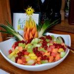Fruitsalade bij het buffet